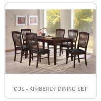 COS - KIMBERLY DINING SET